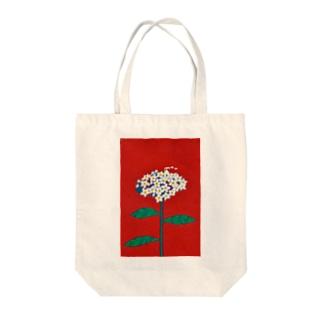 ワスレナグサとお家のトートバッグ Tote bags