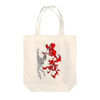 鳳舞-houbu- 『Red』 Tote bags