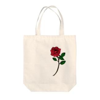 血染めの薔薇 Tote bags