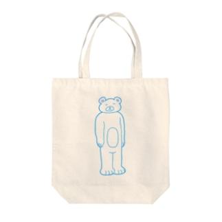 【ゆっきー×うめぼし】脱力くまさん(白)【コラボアイテム】 Tote bags