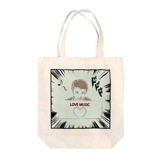 Kengo Kitajimaのダーク良太(LOVE MUSIC) Tote bags