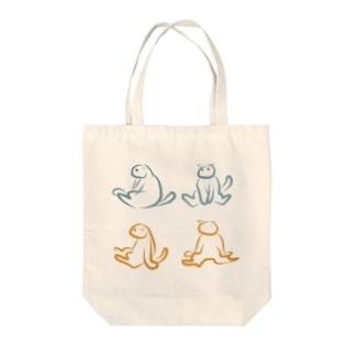 スコ座り図説 Tote bags