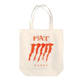 小動物lovesFIATのFIAT_PANDAグリル【Orange】 Tote bags