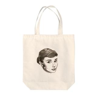 オードリーちゃん Tote bags
