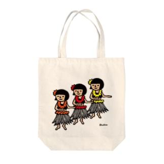 フラガール Tote bags