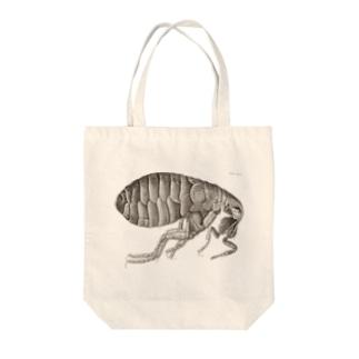 蚤(ノミ)の側面図 - Getty Search Gateway Tote bags