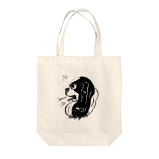 イケメン日本犬 狆 Tote bags