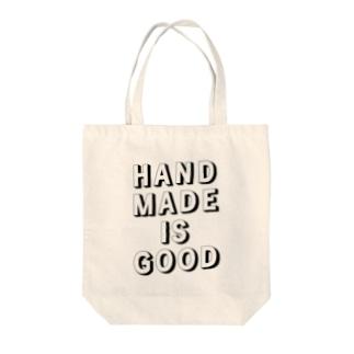 HANDMADE IS GOOD Tote bags