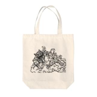 猫も杓子も Tote bags