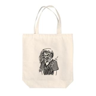 天狗るんげ Tote bags