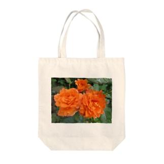ローズNo.5 Tote bags