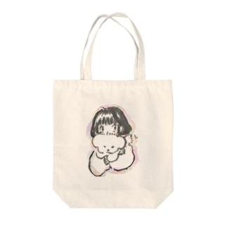 いぬ_ふわふわ_ボブ Tote bags