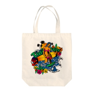 TWISTER Tote bags