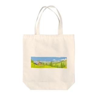 ハイキング Tote bags