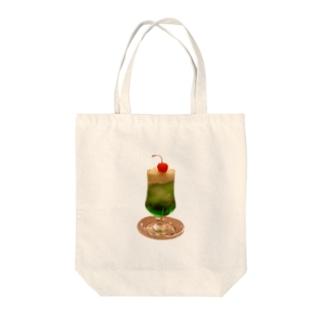 クリームソーダ (メロンソーダver) Tote bags