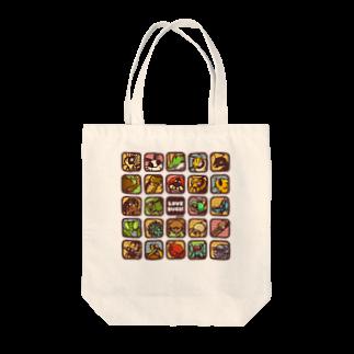 虫デフォルメ作家🐝akariの【Love Bugs】むしアイコン Tote bags