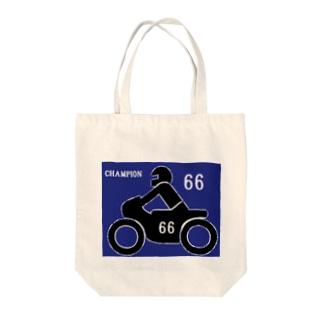 バイクレース 66 Tote bags