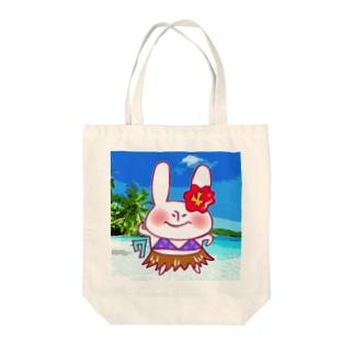 7月のうさぎ Tote bags
