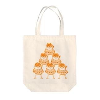 ピラミッドリ(三段) Tote bags