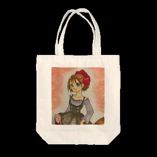 はるのみせの魔女っ子 Tote bags