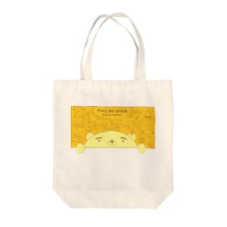 ぺらトート(よだれと栄養) Tote bags