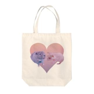 モルモット  オハナ&ラウ  ハート Tote bags