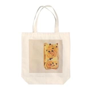 ぱんぱぱん Tote bags