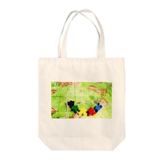カルカソンヌとミープル Tote bags