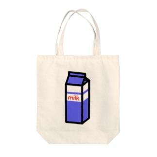 ぎゅうにゅう Tote bags