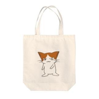 ニヒルな口の猫 Tote bags