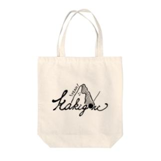kakigori yeah (black)かき氷 Tote bags