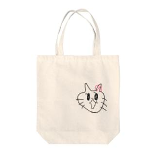 ファー?!??!って言ってるネコ Tote bags