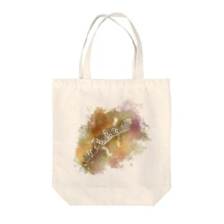 トカゲモドキ Tote bags
