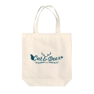 Cat &Deer Tote bags