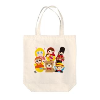 世界の人形ALL-hina doll and dolls of the world-お雛はんと世界の人形たち- Tote bags
