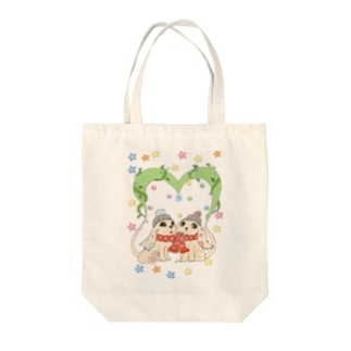 dog heart Tote bags