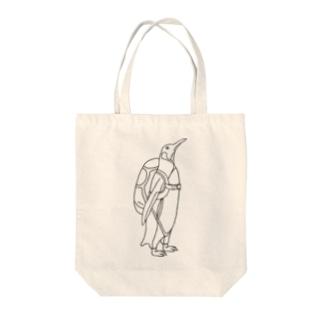 ペンギン スカイダイビング Tote bags