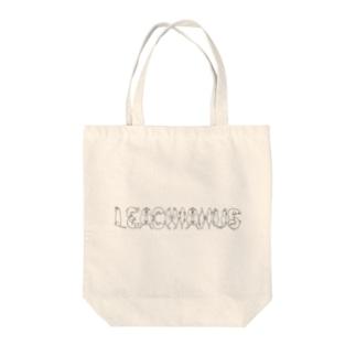 ヤモリ文字  LEACHIANUS(黒) Tote bags