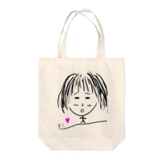 逃げられる女の子 Tote bags