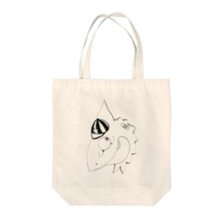 カメレオンボーイ Tote bags