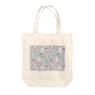 Fanfleecyのgemstone(gray) Tote bags
