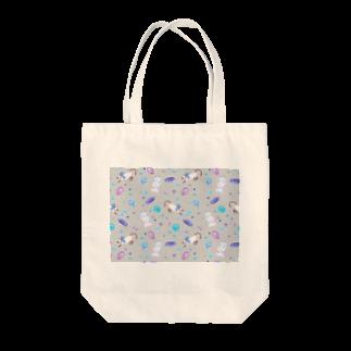 Fanfleecyのgemstone(gray) Tote bags
