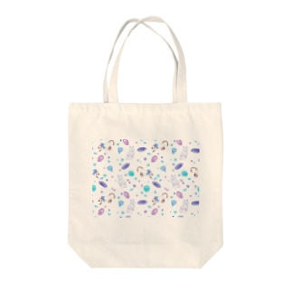 gemstone(white) Tote bags
