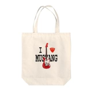I LOVE MUSTANG Tote bags