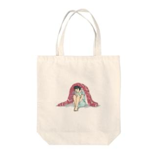 「生肉に引きこもる女子」トートバッグ Tote bags