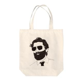 おしゃれなひげおじさん Tote bags