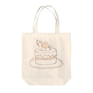 ケーキとうさぎ Tote bags