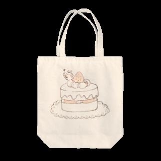 *momochy shop*のケーキとうさぎトートバッグ