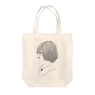 眼鏡女子 Tote bags