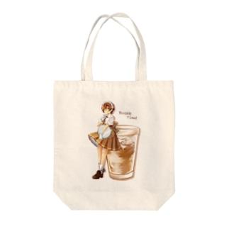アイスカフェオレ Tote bags